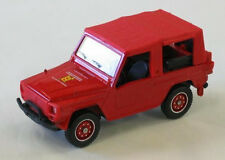 wonderful French firechiefcar  PEUGEOT P4 AWD - red - scale 1/43