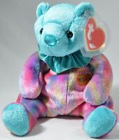 Ty Beanie Baby December Birthday Bear Birthstone Turquoise 2001 Mint Tags Plush