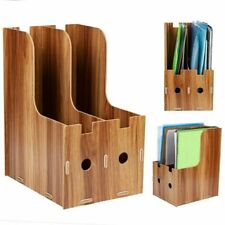 File Organizer Wooden Magazine Book File Stand Desk File Sorter Storage Boxes