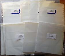 Safe Einsteckblatt Garant 721-728 25 Stück OVP weiß zweispaltig 297 x 270 mm