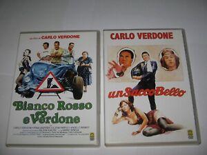 2 CARLO VERDONE FILMS on DVD - UN SACCO BELLO & BIANCO ROSSO E VERDONE  Italian