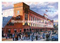 Football Art Print - Rangers FC, Ibrox Stadium