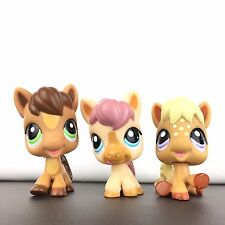 Authentic 3 Littlest Pet Shop Lot 1879 1880 1881 Triplets Horse Pony / LPS .