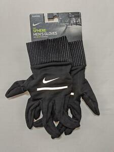 Nike Men's Sphere Running Gloves with Dri-Fit technology X-Large Black New 1265