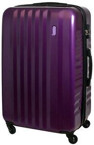 XXL Hartschalen Koffer Trolley Reise TSA Schloss 100 Liter Lila 822