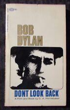 1968 BOB DYLAN Don't Look Back by Pennebaker VG/FN 5.0 1st Ballantine Paperback