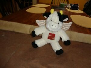 Cow  Gund plush Holy Cow  rare toy with bell, tag & wings RARE
