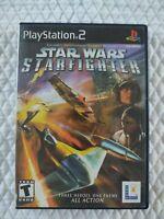 Star Wars: Starfighter (Sony Playstation 2) Black Label CIB Manual PS2
