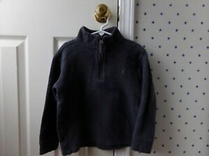 Polo RALPH LAUREN CLASSIC Boys Solid Dark Gray Half Zip Pullover Winter Size 7