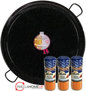 80cm ENAMELLED PAELLA PAN PROFESSIONAL / CATERING + SAFFRON PAELLA MIX GIFT