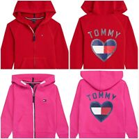 $49 NEW NWT TOMMY HILFIGER GIRLS ZIP UP HOODIE JACKET SIZE S 7 M 8-10 L 12-14