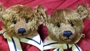 """Pat Murphy """"Annie & Andy"""" lot of 2 artist teddy bear mohair LE sailor 14"""""""