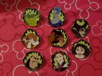 Disney Smiles, Smirks & Sneers Villains Pin Set of 8