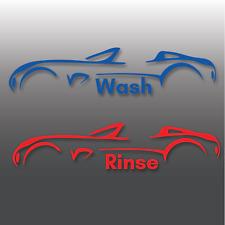 Lavado de coches detallando & Enjuague Cubo De Vinilo Pegatinas | Limpieza | Valeting | Cera