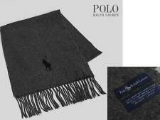 *MADE IN ITALY* New POLO Ralph Lauren MEN Long Scarf - GRAY + RL GIFT BOX