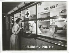 PHOTOGRAPHIE   PAQUEBOT NORMANDIE SHIP LINER  PHARMACIE    WORLD TOUR   18x13