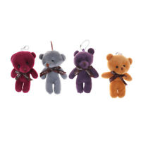 12cm Cute Mini Joint Bear Plush Toys Stuffed Dolls Pendant Gift  HQ