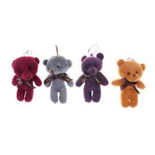 12cm Cute Mini Joint Bear Plush Toys Stuffed Dolls Pendant Gift RadomColo LA