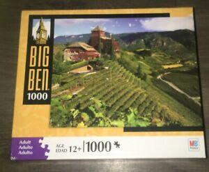 "Milton Bradley Big Ben 1000pc. Puzzle Vineyard  In Bolzano Italy. 20x26"""