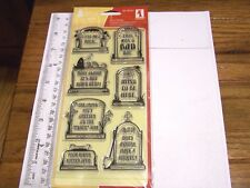 INKADINKADO EPITAPHS HALLOWEEN CLEAR STAMPS GRAVES TOMBSTONES CEMETERY RETIRED