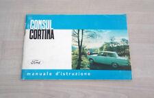Ford Consul Cortina Libretto Manuale Uso e Manutenzione 1962 PERFETTO