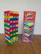 UNO STACKO by MATTEL 45 BLOCKS, THE STACKING BLOCK GAME, #42468