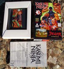 Kasumi Ninja Atari Jaguar in Box but Manual No Cover No Head Band