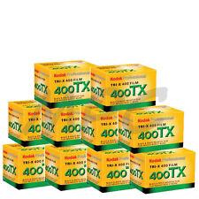 10 Rolls Kodak Tri-X Pan 400 ISO Black & White TX 135-36 Print Film FRESH DATED