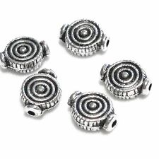 15 pz - Perline in argento tibetano - 10 x 7 x 3,5