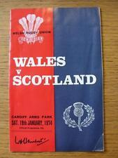 Programma di rugby 19/01/1974: Wales-SCOZIA [a Cardiff ARMS Park] (FOLDE