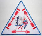 "Order of the Arrow WHITE Background Vigil Triangle 6"" OA Jacket Patch - BSA"