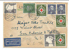 Germany Cover - SC 695, 696, 697, B331 - Freiburg to Texas - May 1953*