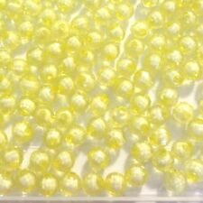 200 Acrylic Facet Round Beads 8mm Yellow Jewellery Making