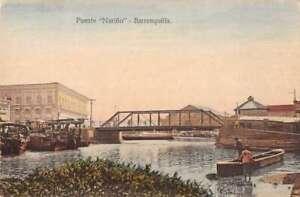 Barranquilla Colombia Puente Narino Vintage Postcard AA41466