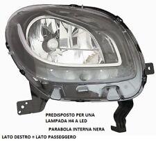 FARO FANALE ANTERIORE A LED PARABOLA NERA DESTRO 10734 SMART FORFOUR  2014