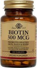 Biotin 300mcg Solgar 100 Tabs