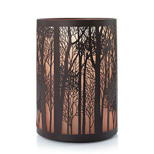 Yankee Candle TWILIGHT SILHOUETTES Fall Forest Trees Jar Pillar Holder Autumn