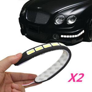 2Pcs 20W  Waterproof  20 LED 12V Daytime Running Light DRL COB Strip Lamp Fog