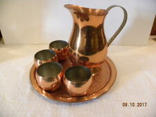 Coppercraft Guild Pitcher and Roly Poly mug Set with Tray