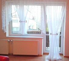 Fertiggardine aus Voile Balkon SET Schöne Weiße Gardine HG-ANNA Wohnzimmer