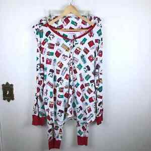Secret Treasures Christmas Present Holiday Festive 2 Piece Long Pajamas 3X