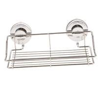 Duschablagekorb mit Saugnapf Edelstahl Chrom Aufbewahrungskorb und Regal für