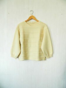 Y's Yohji Yamamoto ancien adorable pull blanc cassé tres beau tricot lourd