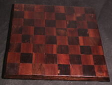 Vintage Wood Inlay Chess Board