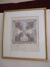 "Original Deirdre McCullough Grunwald Watercolor on Paper  ""Paper Cross"" 1993"