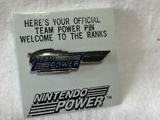 BLUE & Silver Nintendo Power Official Team Power Pin NES SNES - 1980's