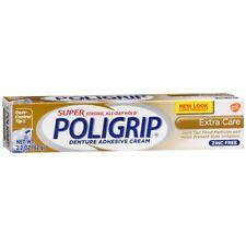 Super Poligrip Denture Adhesive Cream Extra Care - 2.2 OZ (3 Packs)