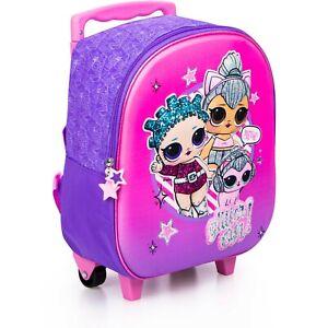 zaino trolley scuola bambina LOL Surprise cartella con ruote da bimba zainetto