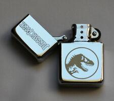 JURASSIC PARK -  chrome petrol lighter - dinosaur [Cd:152.mc-40-lP.] mini poster
