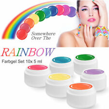 Farbgelset OVER THE RAINBOW UV Nail Colour Gel Colorgel Spar Starterset 10 x 5ml